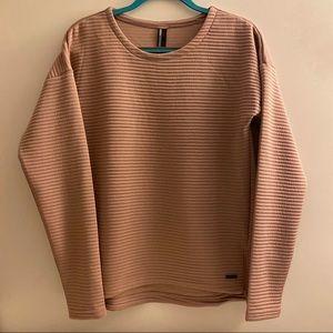 Mondetta Ribbed Size Zip Sweatshirt